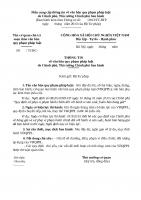Góp ý dự thảo Thông tư hướng dẫn quy định Điều 12 Luật Phổ biến, giáo dục pháp luật về Thông cáo báo chí về văn bản quy phạm pháp luật do Chính phủ, Thủ tướng Chính phủ ban hành