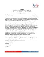 Mẫu đơn xin việc bằng Tiếng Anh ngành QUẢN LÝ NHÀ HÀNG