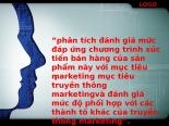 Đánh giá mức đáp ứng chương trình xúc tiến bán hàng của sản phẩm này với mục tiêu marketing mục tiêu truyền thông marketing