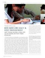 DSpace at VNU: 211_Đổi mới việc dạy và học ngoại ngữ - Một trong những công việc quan trọng để phát triển ĐHQGHN
