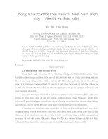 DSpace at VNU: Thông tin sức khỏe trên báo chí Việt Nam hiện nay - Vấn đề và thảo luận