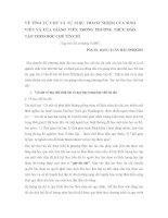 DSpace at VNU: VỀ TÍNH TỰ CHỦ VÀ TỰ CHỊU TRÁCH NHIỆM CỦA SINH VIÊN VÀ CỦA GIẢNG VIÊN TRONG PHƯƠNG THỨC ĐÀO TẠO THEO HỌC CHẾ TÍN CHỈ