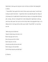 Nghệ thuật tả cảnh ngụ tình trong tám câu thơ cuối đoạn trích kiều ở lầu ngưng bích