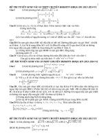 Tuyển tập 300 đề thi Chuyên và Bồi dưỡng HSG toán 9 lên 10