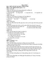 Ngân hàng câu hỏi sinh học 7
