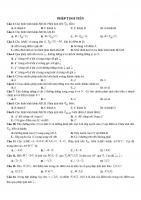 125 câu trắc nghiệm phép biến hình trong mặt phẳng
