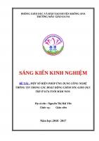 SKKN Một số biện pháp ứng dụng công nghệ thông tin trong các hoạt động chăm sócgiáo dục trẻ ở lứa tuổi mầm non