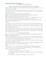 CÂU hỏi và đáp án địa lí 6
