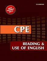 CPE READING USE st tài liệu hay cần phải có