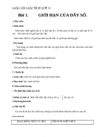 Giáo án Giải tích 11 chương 4 bài 1: Giới hạn của dãy số  Toán giải tích 11