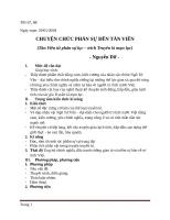 giáo án CHUYỆN CHỨC PHÁN SỰ ĐỀN TẢN VIÊN