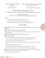 PDR DS KH DH  2018 Quyết đinh số 012018QĐHĐQT về việc Chốt danh sách cổ đông và kế hoạch tổ chức Đại hội cổ đông thường niên năm 2018