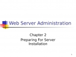 Web server administration chap02