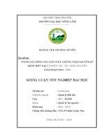 Đánh giá công tác cấp giấy chứng nhận quyền sử dụng đất tại xã Phúc Hà  thành phố Thái Nguyên, giai đoạn 2012  2014 (Khóa luận tốt nghiệp)