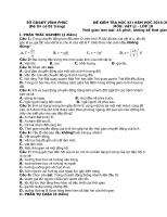 Đề thi học kì lý 10 có đáp án