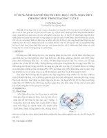 SỬ DỤNG MIND MAP hỗ TRỢ tổ CHỨC HOẠT ĐỘNG NHẬN THỨC CHO học SINH TRONG dạy học vật lý
