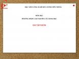 MÔN học PHƯƠNG PHÁP LUẬN NGHIÊN cứu KHOA học