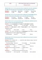 10 đề thi thử THPT quốc gia môn tiếng anh có đáp án và lời giải chi tiết