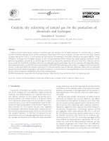 Catalytic dry reforming of natural gas for the production of chemicals and hydrogen