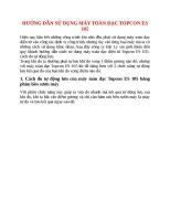 HƯỚNG dẫn sử DỤNG máy TOÀN đạc TOPCON ES 105