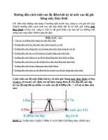 Hướng dẫn cách tính cao độ điểm bất kỳ từ mốc cao độ gốc bằng máy thủy bình