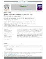 Những tiến bộ gần đây trong sản xuất hiđro từ sự phân hủy axit amin dạng formic