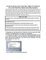 CÁCH sử DỤNG máy TOÀN đạc điện tử TOPCON GTS 235n PHƯƠNG PHÁP GIAO hội NGHỊCH