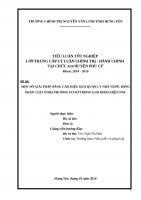 MỘT số GIẢI PHÁP NÂNG CAO HIỆU QUẢ QUẢN lý NHÀ nước BẰNG PHÁP LUẬT ở địa PHƯƠNG cơ sở TRONG GIAI đoạn HIỆN NAY