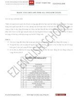 14 nhóm từ vựng cơ bản hay xuất hiện trong mọi bài thi Tiếng Anh.