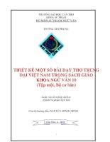 LUẬN văn sư PHẠM NGỮ văn THIẾT kế một số bài dạy THƠ TRUNG đại VIỆT NAM TRONG SÁCH GIÁO KHOA NGỮ văn 10 (tập một, bộ cơ bản)
