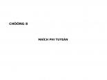 bài giảng mạch điện chương 8: mạch phi tuyến tính ppsx
