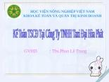 Kế toán TSCĐ tại công ty TNHH taxi đại hòa phát