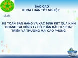 KẾ TOÁN bán HÀNG và xác ĐỊNH kết QUẢ KINH DOANH tại CÔNG TY cổ PHẦN đầu tư PHÁT TRIỂN và THƯƠNG mại CAO PHONG