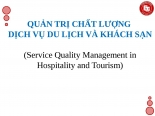 Phương thức quản trị chất lượng dịch vụ du lịch