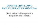 Quản trị chất lượng dịch vụ du lịch khách sạn