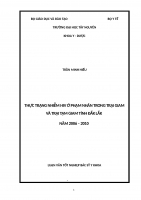 thực trạng nhiễm hiv ở phạm nhân trong trại giam và trại tạm giam tỉnh đắk lắk năm 2006 – 2010