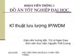 Slide báo cáo kỹ thuật lưu lượng IP WDM