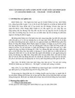 ĐÁNH GIÁ CHẤT LƯỢNG NƯỚC KÊNH NHIÊU LỘC   THỊ NGHÈ – TP HỒ CHÍ MINH