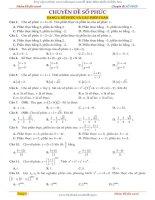 tuyển tập 235 bài tập trắc nghiệm số phức có lời giải chi tiết  cực hấp dẫn