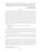 TÌM HIỂU MỘT SỐ VẤN ĐỀ VỀ CHỮ NÔM VÀ TIẾNG VIỆT THỂ HIỆN TRONG VĂN BẢN HOA TIÊN NHUẬN CHÍNH - TS. Đào Mạnh Toàn