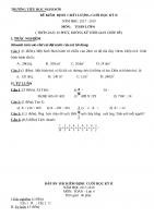 Đề thi học kì 2 môn toán lớp 4