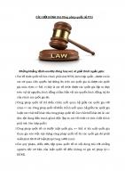 CÂU hỏi ĐÚNG SAI công pháp quốc tế FTU