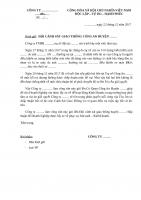 CV gửi CSGT huyện 22 12