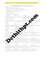 38  đề thi thử THPT QG chuyên đại học sư phạm hà nội   lần 3