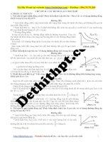 Chương 6 ôn tập kiểm tra vật lý 10    chủ đề 21   các đl chất khí