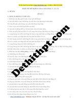 Chương 5, chương 6 ôn tập kiểm tra vật lý 10   đề 1