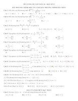 Đề cương ôn tập toán 10 học kì 1 có đáp án