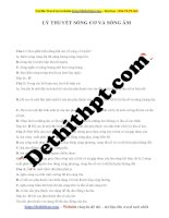 142 câu lý thuyết môn vật lý 12   chương 2   sóng cơ và sóng âm   file word có lời giải chi tiết