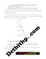Nâng cao kỹ năng giải toán trắc nghiệm 100% dạng bài hàm số và các bài toán liên quan – tô thị nga   vấn đề 4  tiếp tuyến của đồ thị hàm số   file word image marked