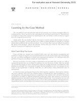 Learningbythe case study method